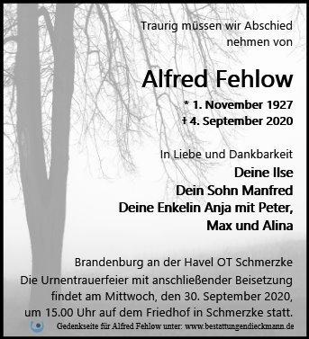 Profilbild von Alfred Fehlow