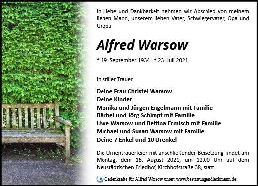 Profilbild von Alfred Warsow