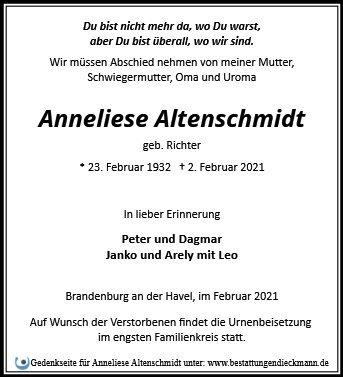 Profilbild von Anneliese Altenschmidt