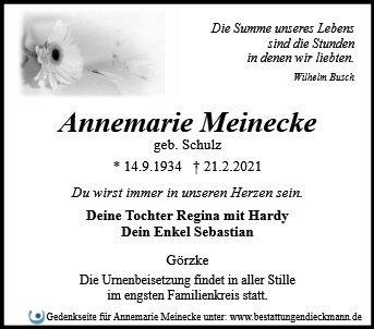Profilbild von Annemarie Meinecke