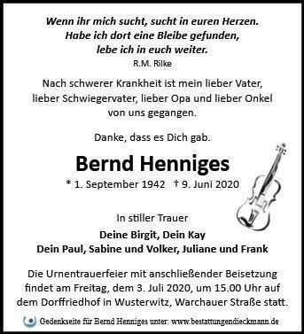 Profilbild von Bernd Henniges