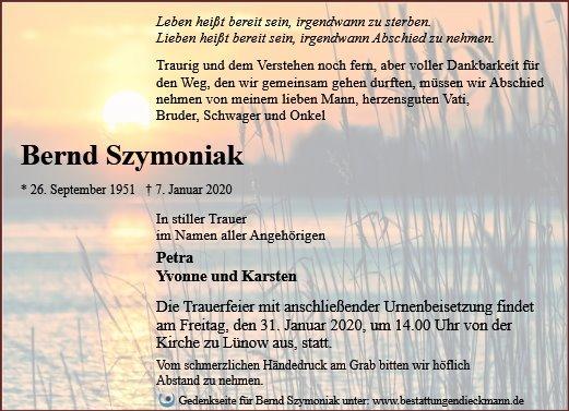Profilbild von Bernd Szymoniak