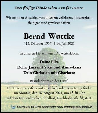 Profilbild von Bernd Wuttke