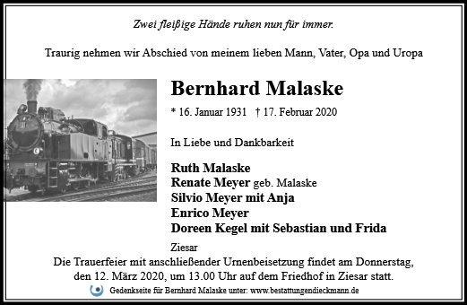 Profilbild von Bernhard Malaske