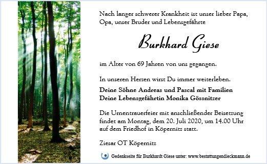 Profilbild von Burkhard Giese
