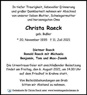 Profilbild von Christa Raeck