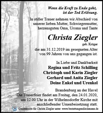Profilbild von Christa Ziegler