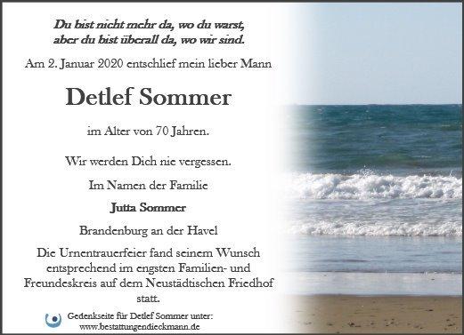 Profilbild von Detlef Sommer