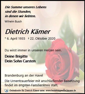 Profilbild von Dietrich Kämer