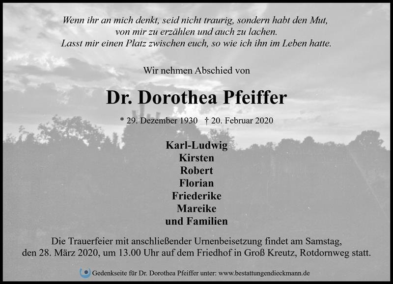 Profilbild von Dr. Dorothea Pfeiffer