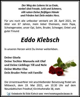 Profilbild von Eddo Klebsch