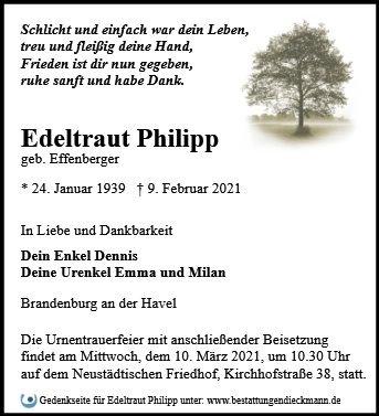 Profilbild von Edeltraut Philipp