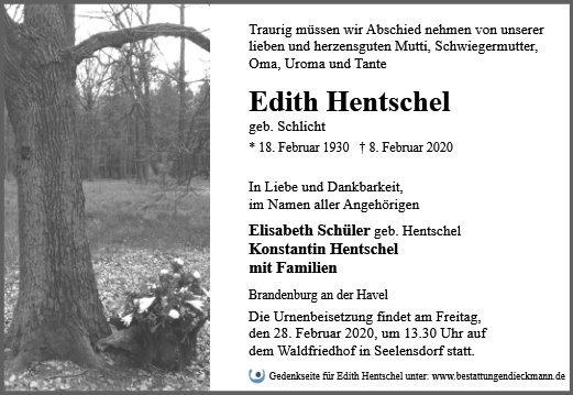 Profilbild von Edith Hentschel