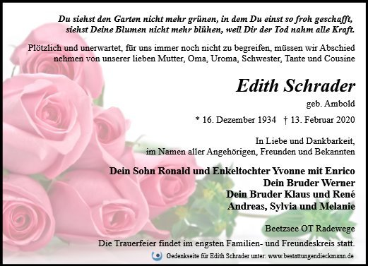 Profilbild von Edith Schrader