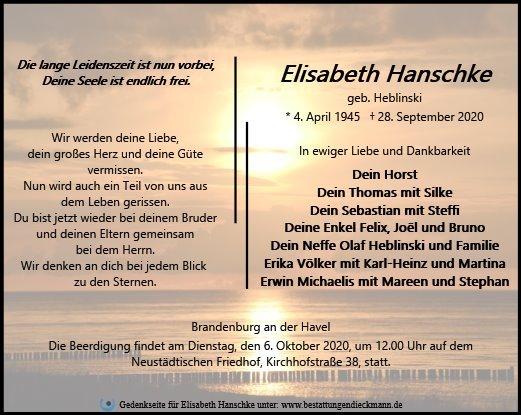 Profilbild von Elisabeth Hanschke