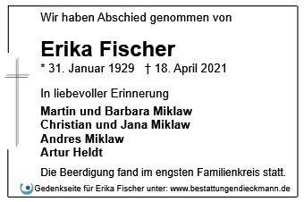 Profilbild von Erika Fischer