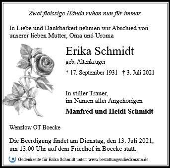 Profilbild von Erika Schmidt