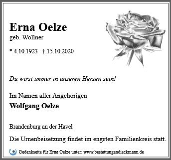 Profilbild von Erna Oelze
