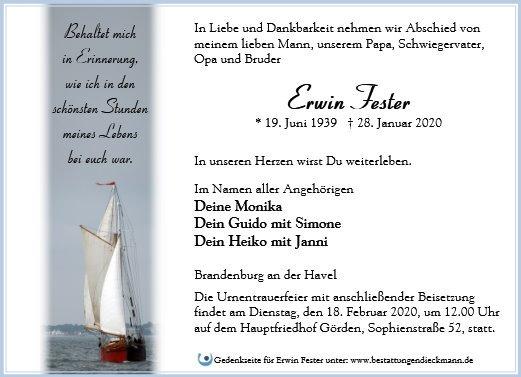 Profilbild von Erwin Fester