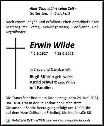 Profilbild von Erwin Wilde