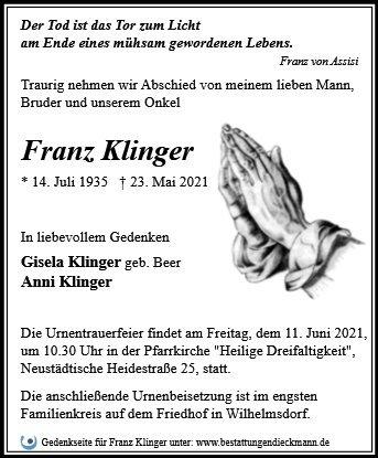 Profilbild von Franz Klinger