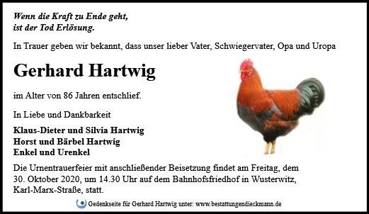 Profilbild von Gerhard Hartwig