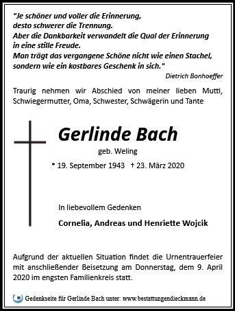 Profilbild von Gerlinde Bach