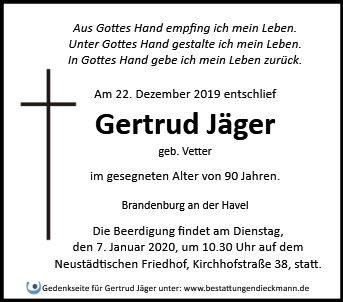 Profilbild von Gertrud Jäger