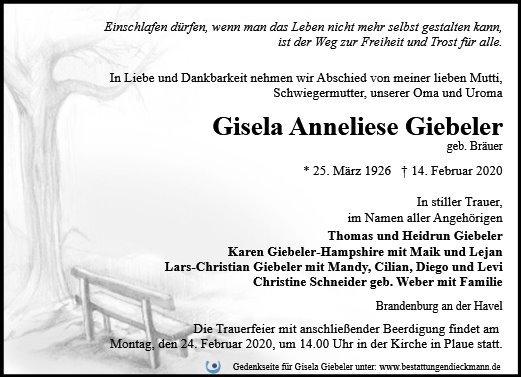Profilbild von Gisela Giebeler