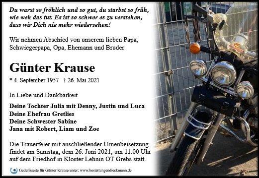 Profilbild von Günter Krause