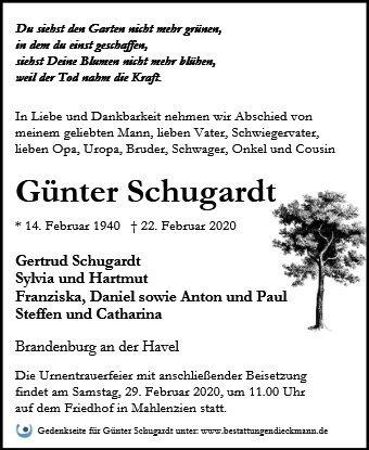 Profilbild von Günter Schugardt