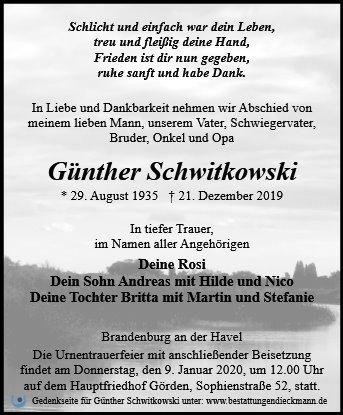 Profilbild von Günther Schwitkowski