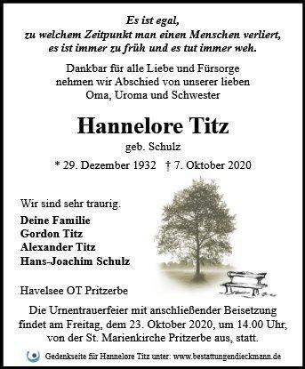 Profilbild von Hannelore Titz