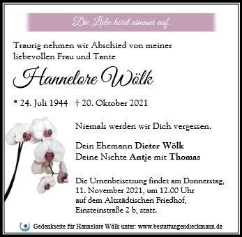 Profilbild von Hannelore Wölk
