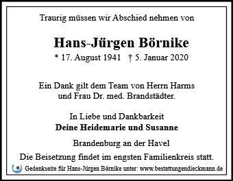 Profilbild von Hans-Jürgen Börnike