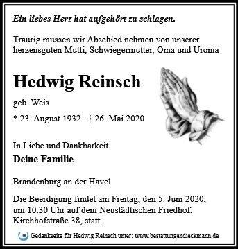 Profilbild von Hedwig Reinsch