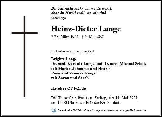 Profilbild von Heinz-Dieter Lange