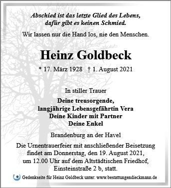 Profilbild von Heinz Goldbeck