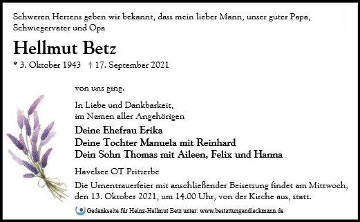 Profilbild von Heinz-Hellmut Betz