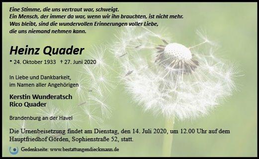 Profilbild von Heinz Quader