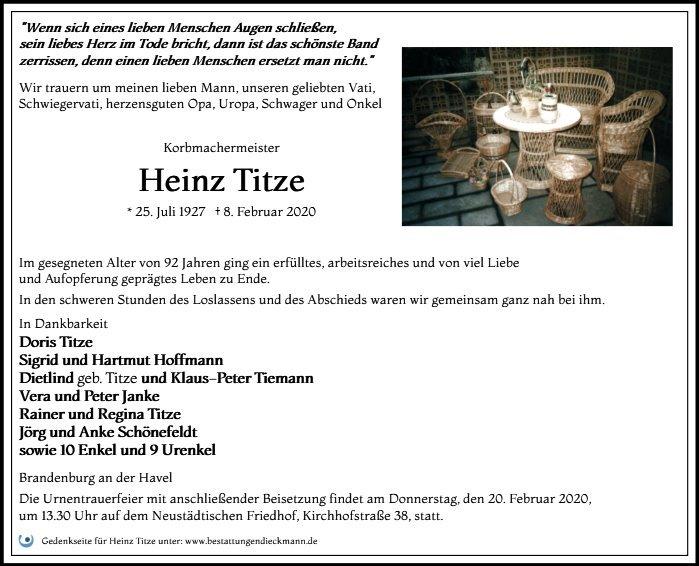Profilbild von Heinz Titze