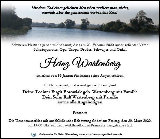 Profilbild von Heinz Wartenberg