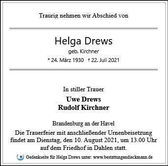 Profilbild von Helga Drews