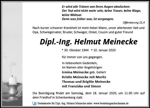 Profilbild von Dipl.-Ing. Helmut Meinecke