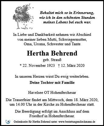 Profilbild von Hertha Behrend