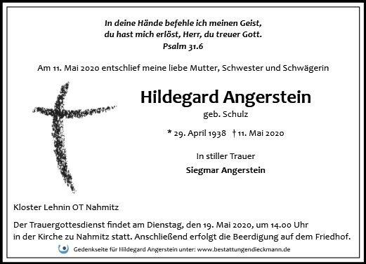 Profilbild von Hildegard Angerstein