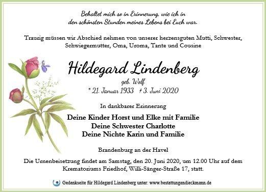 Profilbild von Hildegard Lindenberg