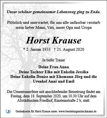 Profilbild von Horst Krause