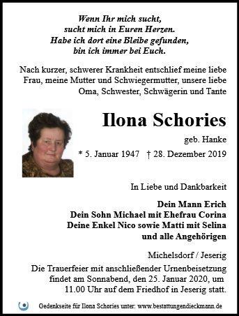 Profilbild von Ilona Schories