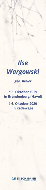Profilbild von Ilse Wargowski
